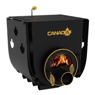 Булерьян CANADA classic 03 – 28 кВт (850 м3) с варочной поверхностью, стеклом и перфорацией